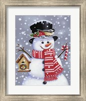 Snowman With Tophat Fine Art Print