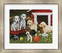 Puppy Playmates Fine Art Print