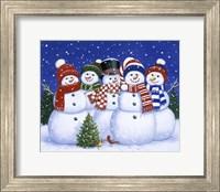 Five Snowmen Fine Art Print