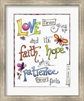 Words of Love - Never Fails Fine Art Print