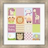 Baby Girl Animal Quilt Fine Art Print