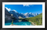 Moraine Lake at Banff National Park in the Canadian Rockies near Lake Louise, Alberta, Canada Fine Art Print