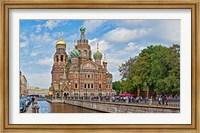 Church in a city, Church Of The Savior On Blood, St. Petersburg, Russia Fine Art Print