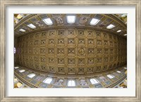 Ceiling details of a church, St. Peter's Basilica, St. Peter, Chains, Rome, Lazio, Italy Fine Art Print