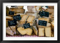 Cheese for sale at a market stall, Lourmarin, Vaucluse, Provence-Alpes-Cote d'Azur, France Fine Art Print
