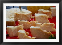 Cheese for sale at weekly market, Arles, Bouches-Du-Rhone, Provence-Alpes-Cote d'Azur, France Fine Art Print