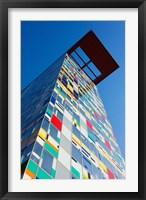 Facade of a Coroful building, Medienhafen, Dusseldorf, North Rhine Westphalia, Germany Fine Art Print