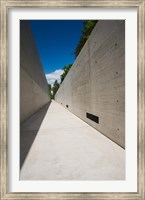 Courtyard to Bergen-Belsen WW2 Concentration Camp Memorial, Lower Saxony, Germany Fine Art Print