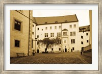 Facade of the castle site of famous WW2 prisoner of war camp, Colditz Castle, Colditz, Saxony, Germany Fine Art Print