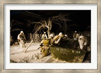 Exhibits showing the area during the Battle of the Bulge in WW2, National Museum of Military History, Diekirch, Luxembourg Fine Art Print
