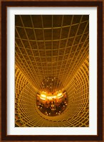 Interiors of Jin Mao Tower looking down to the lobby of the Grand Hyatt hotel, Lujiazui, Pudong, Shanghai, China Fine Art Print