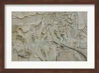 Revolutionary frieze in Huangpu Park by Huangpu River, The Bund, Shanghai, China Fine Art Print