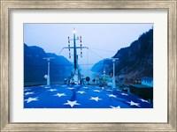 Yangtze River Cruise Ship view at dawn, Yangtze River, Yichang, Hubei Province, China Fine Art Print