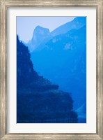 River with Mountains at Dawn, Yangtze River, Yichang, Hubei Province, China Fine Art Print