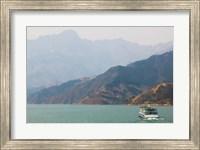 Ferry in a river, Xiling Gorge, Yangtze River, Hubei Province, China Fine Art Print