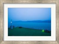 Deck of the Yangtze River Cruise Ship at dawn, Yangtze River, Fengdu, Chongqing Province, China Fine Art Print