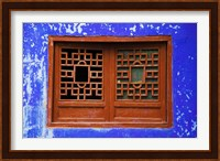 Blue Temple Wall at Mingshan, Fengdu Ghost City, Fengdu, Yangtze River, Chongqing Province, China Fine Art Print