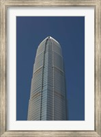 Low angle view of a skyscraper, Two International Finance Centre, Central District, Hong Kong Island, Hong Kong Fine Art Print