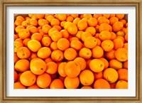 Close-up of oranges, Santa Paula, Ventura County, California, USA Fine Art Print