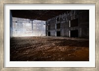 Interiors of World War Two-era Nazi submarine base now an art gallery, Bordeaux, Gironde, Aquitaine, France Fine Art Print