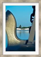 Sculpture of an Anchor, USS Arizona Memorial, Pearl Harbor, Honolulu, Oahu, Hawaii Fine Art Print