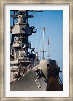 Close UP of USS Missouri, Pearl Harbor, Honolulu, Oahu, Hawaii Fine Art Print