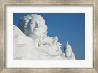 French themed Snow Sculpture by frozen Sun Island Lake, Harbin, China Fine Art Print