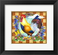 Morning Glory Rooster III Fine Art Print