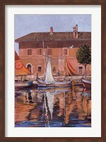 Sailboats On The Canal Fine Art Print