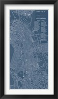 Graphic Map of Boston Fine Art Print