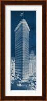 Flat Iron 1909 Blueprint Panel Fine Art Print