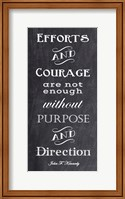 Efforts & Courage Quote Fine Art Print