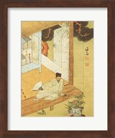 Taking a Rest after Reading Books Fine Art Print