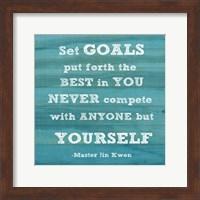 Set Goals square Fine Art Print