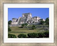 Ancient building ruins, El Castillo, Tulum Mayan Fine Art Print