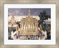 Wall mural depicting the Ramayana story, Royal Pavilion Fine Art Print