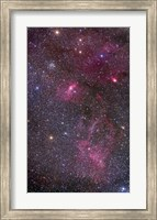 Nebulosity around the open cluster Messier 52, including the Bubble Nebula Fine Art Print