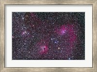 Area of Flaming Star Nebula and complex in Auriga Fine Art Print