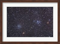 Open clusters Messier 47 and Messier 47 in the constellation Puppis Fine Art Print