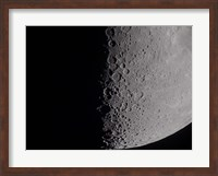 South terminator of 7 day moon Fine Art Print