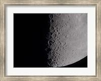 South terminator of 7 day moon Fine Art Print