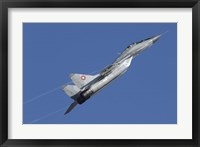 A Bulgarian Air Force MiG-29 aircraft taking off over Bulgaria Fine Art Print