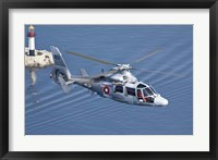 Bulgarian Navy Eurocopter AS-565MB Panther over Black Sea Fine Art Print
