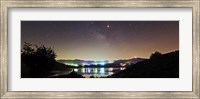 Lunar eclipse and Milky Way above Taleqan Lake, Iran Fine Art Print