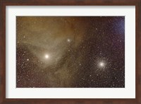 Messier 4 and NGC 6144 globular clusters with Antares, a red supergiant star Fine Art Print