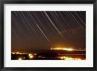 Star trails above a village in the central desert of Iran Fine Art Print