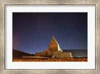Starry night sky above Saint Thaddeus Monastery, Iran Fine Art Print