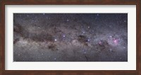Widefield view of the southern constellations of Centaurus and Crux Fine Art Print