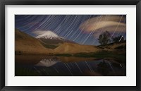 Star trails above Mount Damavand, Iran Fine Art Print