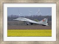 A Bulgarian Air Force MiG-29UB aircraft taking off Fine Art Print